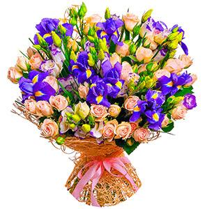 Дизайнерский букет +30% цветов с доставкой в Кемерово