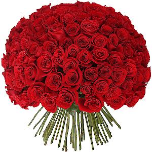 Букет из 101 красной розы с доставкой в Кемерово