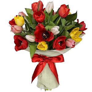 Тюльпаны (21 шт.) с доставкой в Кемерово
