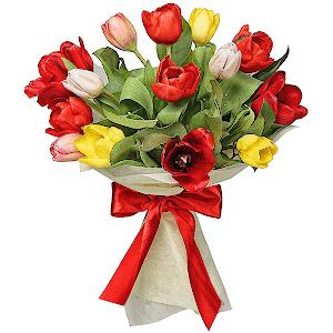 Букет из 15 тюльпанов с доставкой в Кемерово